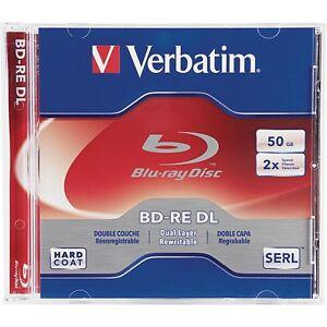 Verbatim Blu-Ray BD-RE DL 97536 50GB 2X 1-Pk Jewel Case