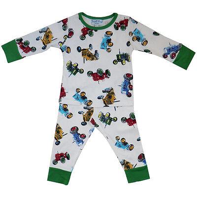 Cotton Knit Pyjama (100% Cotton Knit Pyjamas - Beautifully Soft - Tractors - Powell Craft - Ages 1-9)