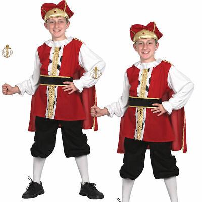 Jungen Mittelalterlich König Kostüm Tudor Buch Woche Kinder Kostüm - Alte Kostüm Buch
