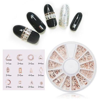 Nail Rivet Beauty Decor Metallic 3D Nail Art Charm Decor Multi Studs Gems Pretty - Metallic Decorations