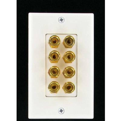 4 Speaker Wall Plate With Gold Plated Binding Posts Gold Wall Plate