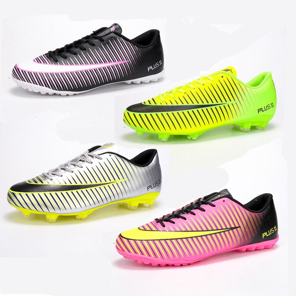 Fashion Men Boys Soccer Shoes Outdoor Indoor Soccer Cleats Ground Football Shoes