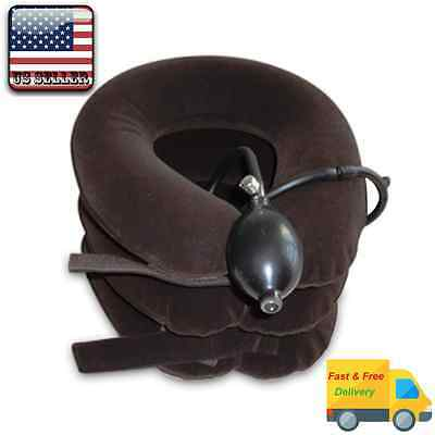 Cervical Neck Traction Device,Inflatable,Shoulder-Neck Pain Relief, Brace,Collar