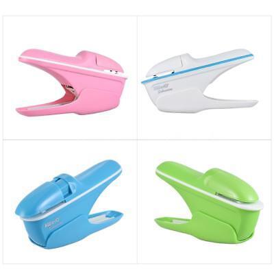 Creative Mini Stapler Safe Free Staple Office Paper Binding Stapleless Stapler