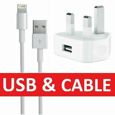 100% Genuine CE Charger Plug & USB Sync Cable for Apple iPhone 8 7 6S X XS XR