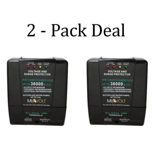 2 Pack Voltage Surge Protector Split A/C brownout Refrigerators 6600W 36000BTU