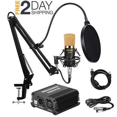 Recorder Package - Music Recording Equipment Home Studio Package Bundle Professional Broadcast Set