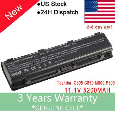 Battery For Toshiba Satellite PRO C850D C855D C870D C875D Laptop PA5024U 1BRS US
