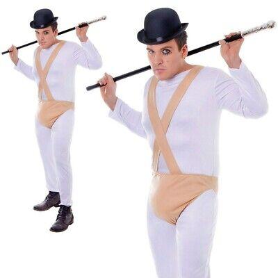 Neu Uhrwerk Orange Kostüm Herren Überführen Alex Kostüm Outfit Halloween