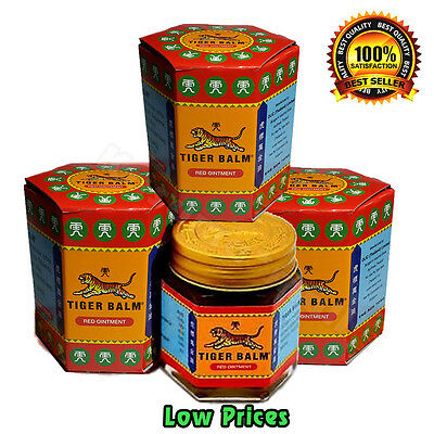 3 x 30 G Best TIGER BALM HERBAL RED OINTMENT MASSAGE RELIEF MUSCLE Aches &