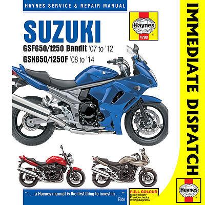 [4798] Suzuki GSF650/1250 Bandit, GSX650/1250F 2007-14 Haynes Workshop Manual