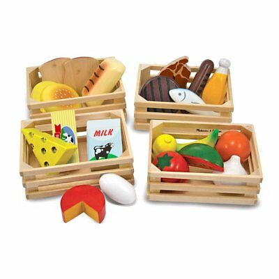 Melissa & Doug Food Groups Wooden Play Food 271 Brand New Wooden Toy Play Time](Melissa And Doug Toys)