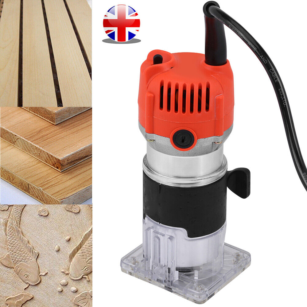 Electric Hand Trimmer Palm Router Wood Laminate Joiners Tool 580W Variable Speed