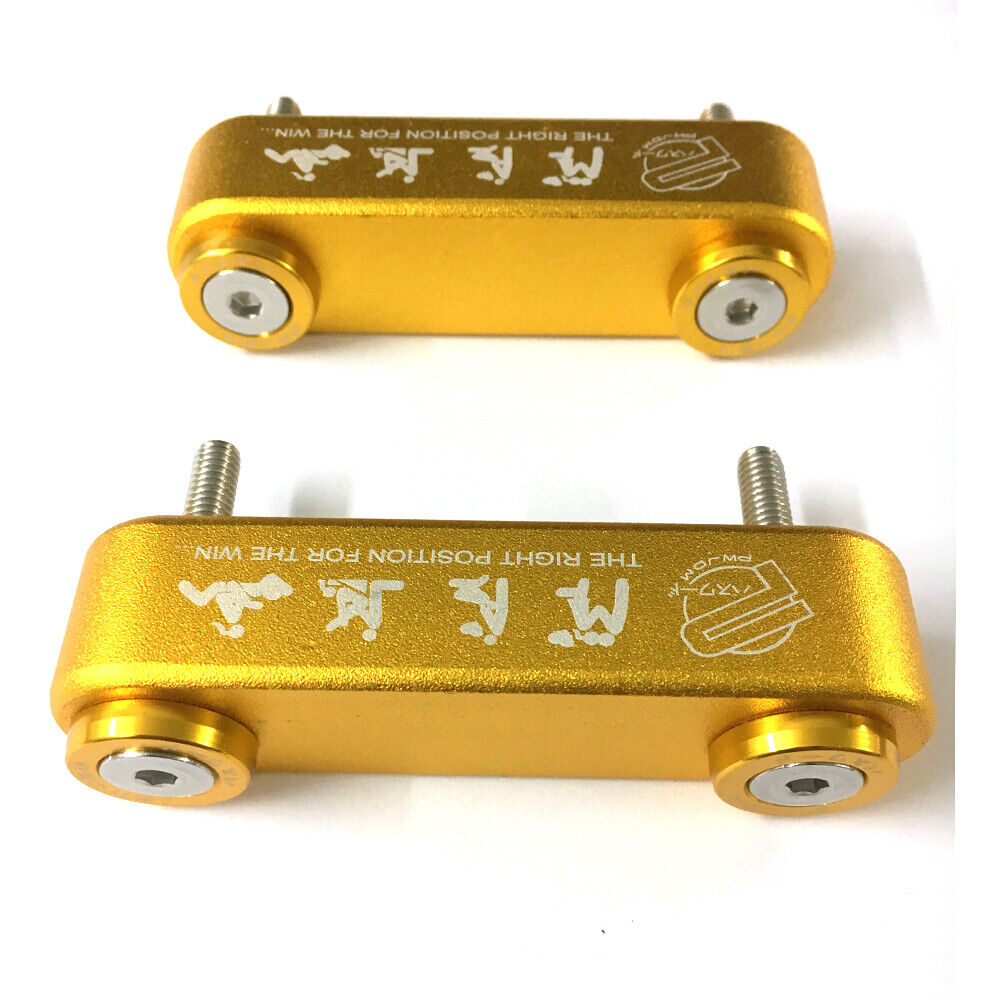 Gold Car Billet Hood Vent Spacer Riser Kit For Honda Civic