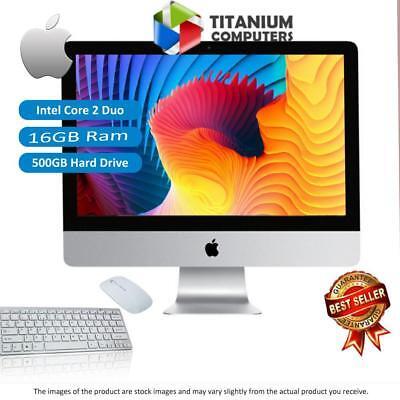 APPLE IMAC 21.5-INCH 3.06GHZ C2D LATE-2009 16GB RAM 500GB HDD DVD MAC OSX SIERRA