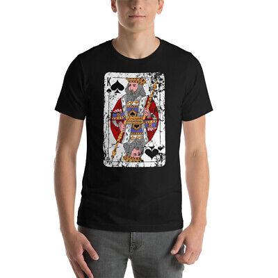 Playing Cards T-Shirt Lucky Spades King Cool Tee Men Women Best Gift