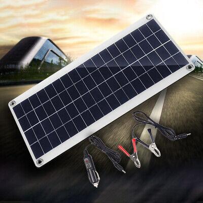 20W 12V USB Flexible Solar Panel Battery Charger Kit Boat Car & Controller