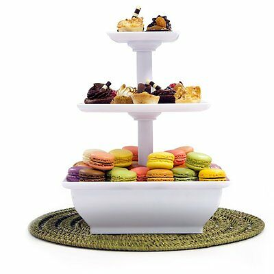 Snack Server Stand Party 3 Tier Appetizers Cakes Finger Sandwiches Deserts (Party Snacks Appetizers)