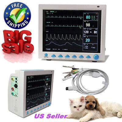 Usa Contec Portable Veterinary Vital Signs Icu Patient Monitor 6 Parameters Vet