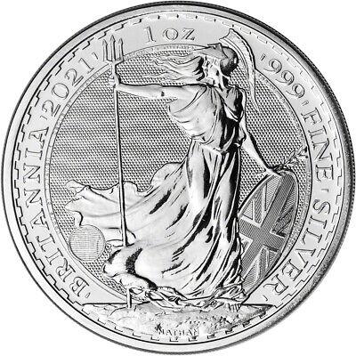 2021 Great Britain Silver Britannia £2 - 1 oz - BU