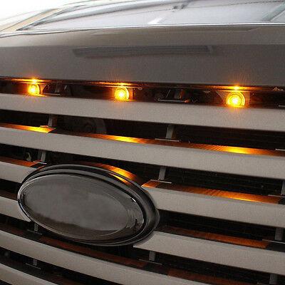 Ford SVT COB LEDs Raptor Style LED Amber Grille Lighting Kit Aluminum Alloy *3