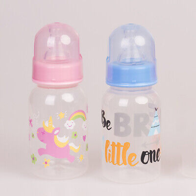 Pink And Blue Plastic Bottle Suitable For Reborn Accessories Baby Toy Supplies
