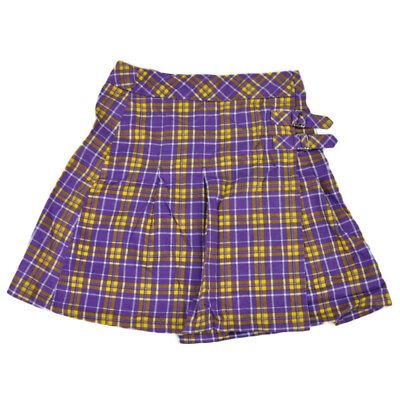 NCAA Louisiana LSU Tigers Womens Plaid Pattern Purple Yellow Skirt Ladies