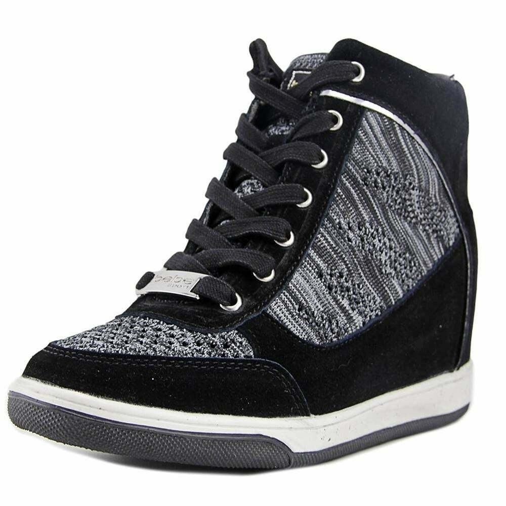 womens cheree fashion wedge sneakers black size