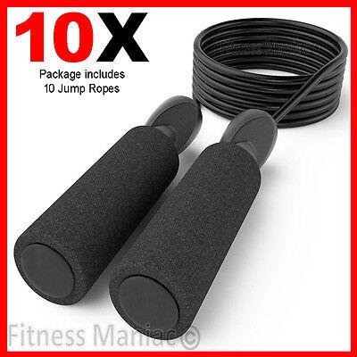 10X Adjustable Jump Ropes 10ft Black Speed Rope Bulk Wholesale Lots Boxing MMA - Bulk Jump Ropes