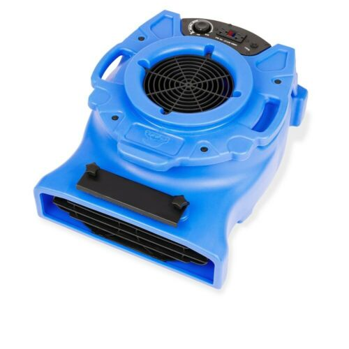 B-Air Ventlo-25 1/4 HP Low Profile Air Mover Carpet Dryer Blower Floor Fan, Blue