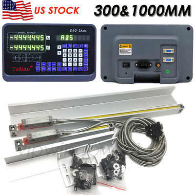 12 40 Digital Readout 2axis Ttl Linear Glass Scale Mill Lathe Dro Kit Cncus