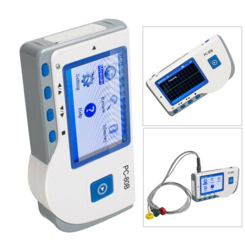 Portable Heal Force PC-80B Easy ECG EKG Heart Monitor Electrocardiogra LCD