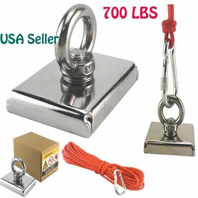 700lbs Big Fishing Magnet Hunting Pull Force Strong Neodymium10m Rope