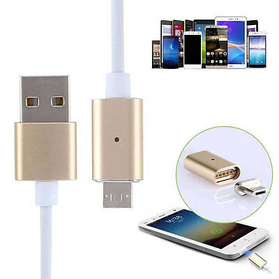 2.4A Micro USB Charging Cable Magnetic Adapter Charger For Samsung / LG Android