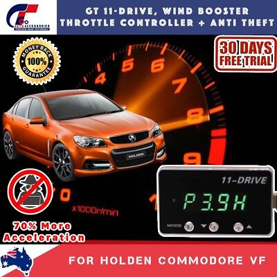 GT WIND BOOSTER THROTTLE CONTROLLER ANTI THEFT FOR ALL HOLDEN COMMODORE VF V6 V8