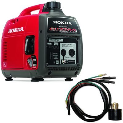 Honda Eu2200 Companion 1800 Watt Portable Inverter Generator W Parallel Cabl...