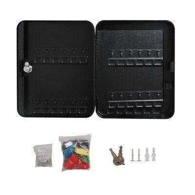 48 Safe Hook Key Box Tags Home Car Lock Storage Case Cabinet Organizer Black Us