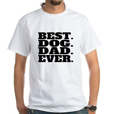 CafePress Best Dog Dad Ever T Shirt 100% Cotton T-Shirt, White