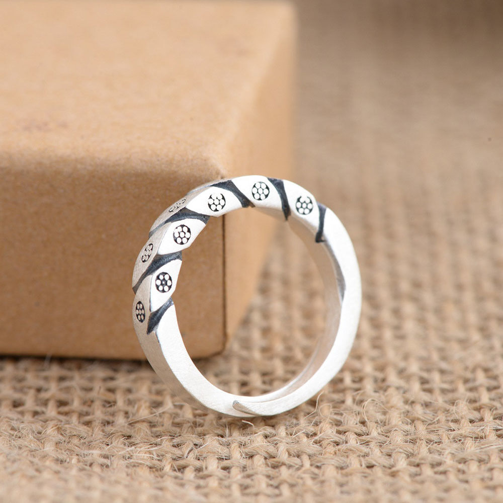 Symbol of Norse Viking Women Warriors Ring pure S925 Sterling Silver Rings