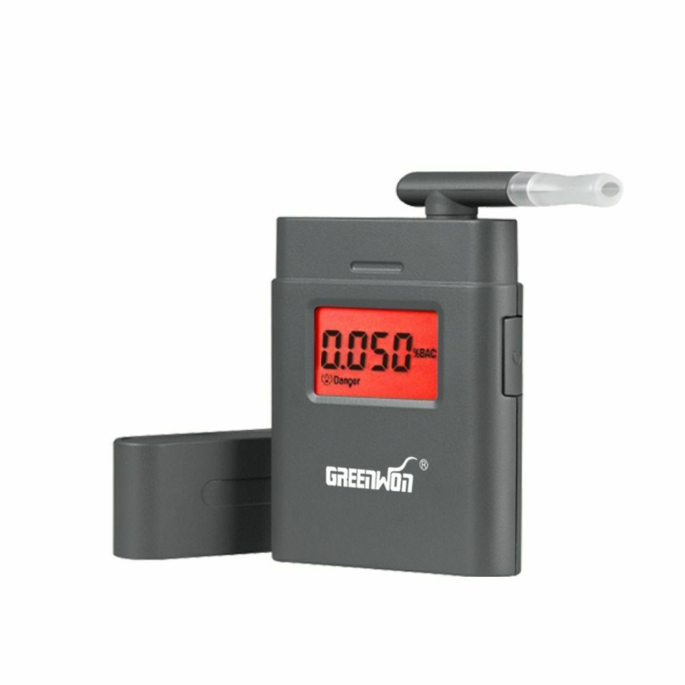 Sensitive Breath Alcohol Tester LCD Digital Breathalyzer Det
