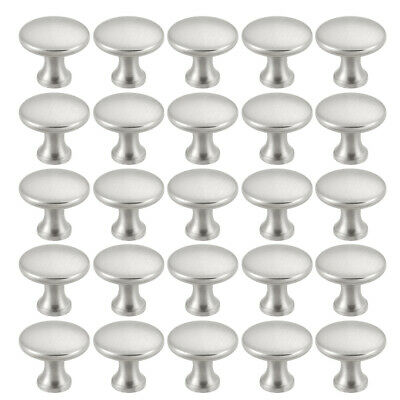 10/25pc Satin Nickel Round Mushroom Kitchen Cabinet Knobs Cupboard Handle Pulls -