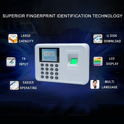 2.4intelligent Biometric Fingerprint Attendance Recorder Office Check-in Q6x0