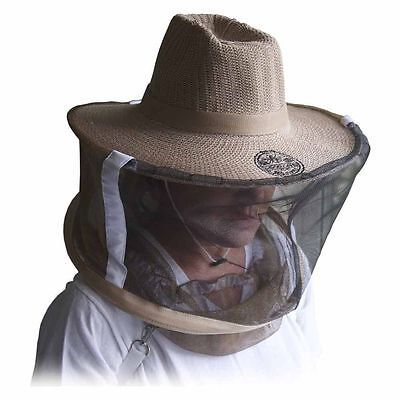 Natural Cotton Beekeepers Medium Large Hat Veil Bee Protection During Beehive