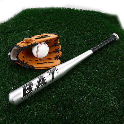 "Heavy Duty  Baseball Rounders Softball Bat 24"" Pole Full Size Bat & Ball Set UK!"