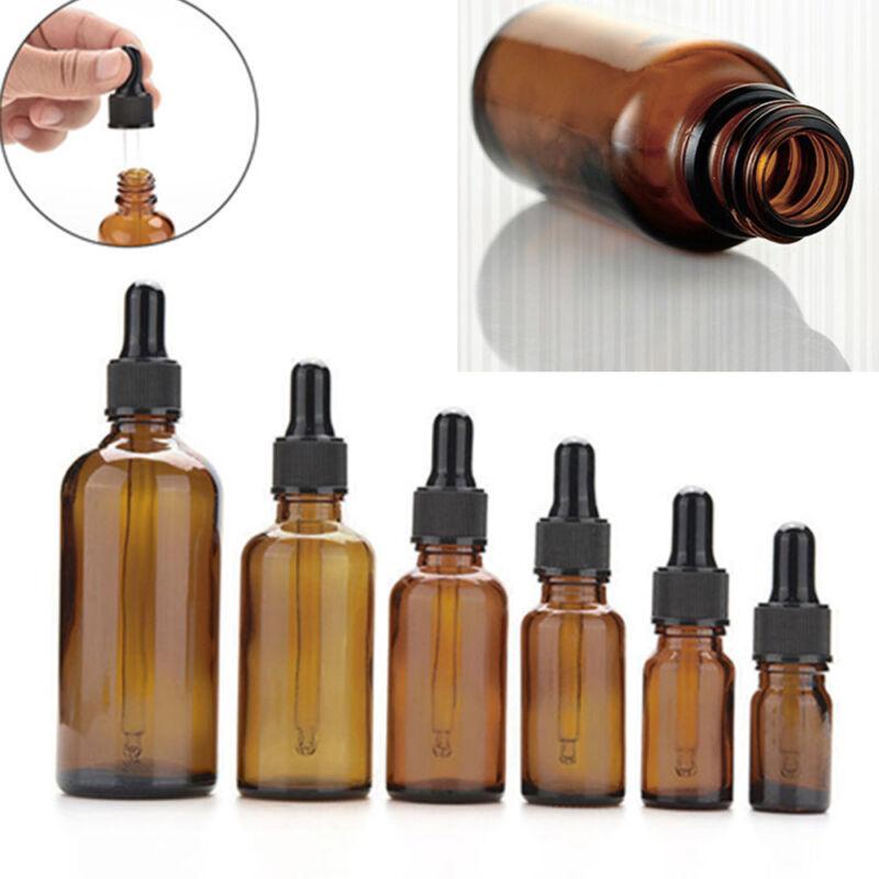 Amber Glass Liquid Reagent Pipette Bottle Eye Dropper Aromat