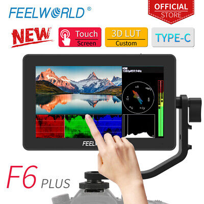 """FEELWORLD Type-C F6 Plus 5.5"""" Screen Touch Field Video DSLR Monitor with 3D Lut"""