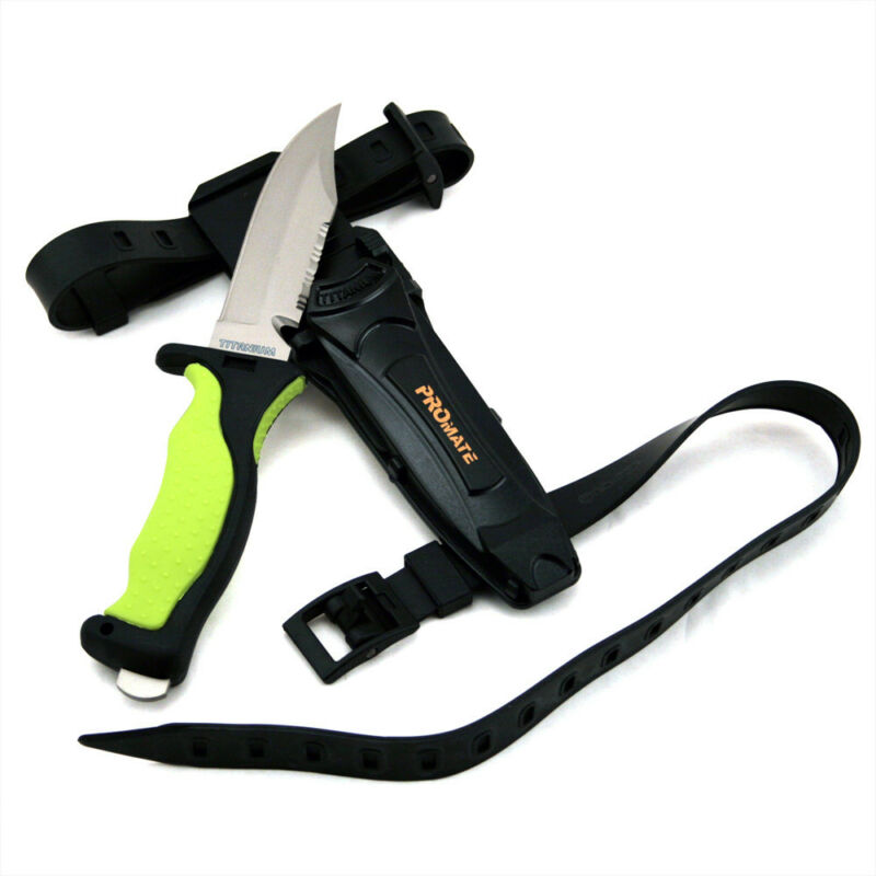 Promate Sharp Tip Solid Titanium Scuba Dive Snorkeling Spearfishing Knife