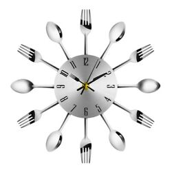 Modern DIY Stainless Steel Wall Clock 3D Analog Sticker Home Decor Art Design