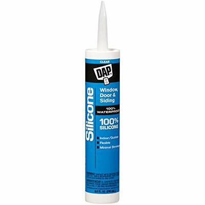 Dap 08641 Clear Silicone Sealant 9.8-Ounce Caulk Adhesives & Sealers Hardware