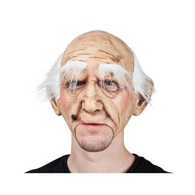 Erwachsene Herren Mürrische Alter Man Maske Faltig Realistische Kostüm Halloween